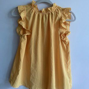 Sunny yellow frill top